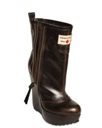 DSquared² | Brown 130mm Leather Low Boots | Lyst