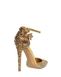DSquared² | Gold 110mm Lalique Crystal and Studs Pumps | Lyst