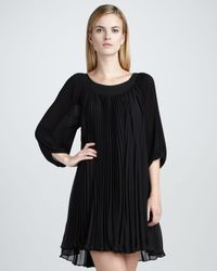 Erin Fetherston | Black Belle Sleeved Pleated Dress | Lyst