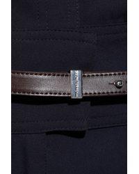 MICHAEL Michael Kors - Blue Belted Crepe Jumpsuit - Lyst