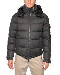 Moncler - Gray Montgenevre Wool Down Jacket for Men - Lyst