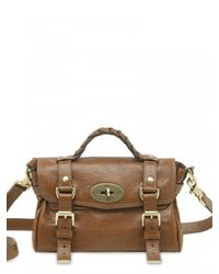 Mulberry - Brown Mini Alexa Soft Buffalo Satchel - Lyst