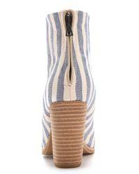 Rag & Bone - Blue Classic Newbury Striped Canvas Booties - Lyst