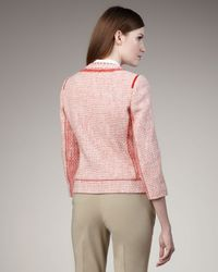 Elie Tahari - Pink Fabiana Tweed Jacket - Lyst