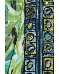 Emamó - Multicolor Giungla Sequin-embellished Silk-chiffon Kaftan - Lyst