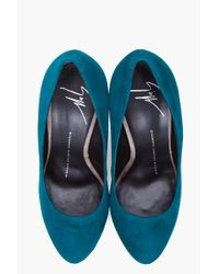 Giuseppe Zanotti - Blue Turquoise Suede Eva Pumps - Lyst
