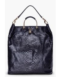 Mulberry | Ink Blue Scaled Hetty Hobo | Lyst