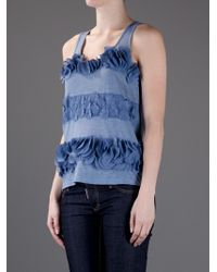See By Chloé | Blue Floral Vest | Lyst