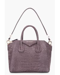 Givenchy   Gray Small Charcoal Antigona Bag   Lyst