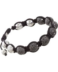 Shamballa Jewels | Black Pave Diamond Bead Bracelet | Lyst