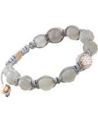 Shamballa Jewels | Gray Moonstone Pave Diamond Bead Bracelet | Lyst