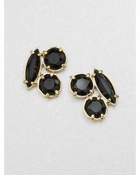 kate spade new york | Black Cluster Stud Earrings | Lyst