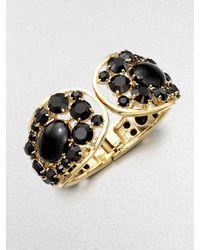 Kate Spade | Gold Stone Encrusted Paisley Cuff Bracelet | Lyst
