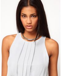 ASOS   Metallic Limited Edition Sleek Link Collar Necklace   Lyst