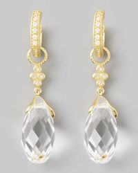 Jude Frances | Metallic White Quartz Briolette Charms Yellow Gold | Lyst