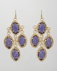 Kendra Scott - Melody Earrings Purple Iolite - Lyst