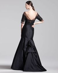 Lela Rose | Black Tulletop Gown | Lyst