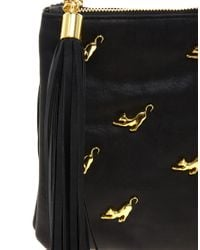 ASOS - Black Multi Zip Cat Clutch Bag - Lyst