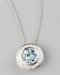 Frederic Sage | Blue Frederic Sage Mini Aquamarine Diamond Pendant Necklace | Lyst
