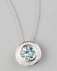 Frederic Sage | Blue Frederic Sage Mini Aquamarine Diamond Pendant Necklace | Lyst