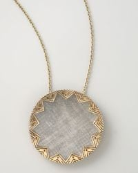 House of Harlow 1960 | Gray Engraved Sunburst Pendant | Lyst