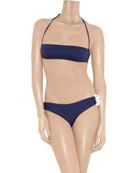 Melissa Odabash   Blue Luxor Bandeau Bikini   Lyst
