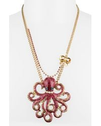 Betsey Johnson | Metallic Sea Excursion Octopus Pendant Necklace | Lyst