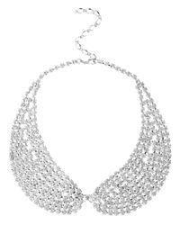 Swarovski - White Rhinestone Collar Necklace with Stones - Lyst