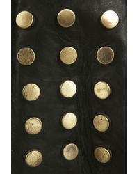 TOPSHOP - Black Leather Stud Crossbody Bag - Lyst