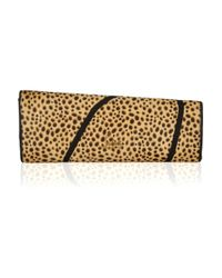 Christian Louboutin | Brown La Valliere Asymmetric Printed Calf Hair Clutch | Lyst