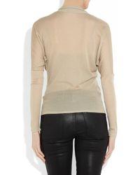 Gucci | Beige Fineknit Cashmere Wrapeffect Top | Lyst