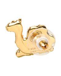 kate spade new york - Metallic Wild One Camel Stud Earrings - Lyst