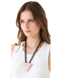 Kelly Wearstler - Metallic Quartz Triangle Necklace - Lyst