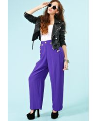 Nasty Gal | Purple Just Cruisin Palazzo Pants | Lyst