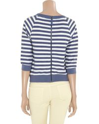 Splendid - Blue Striped Cottonjersey Top - Lyst