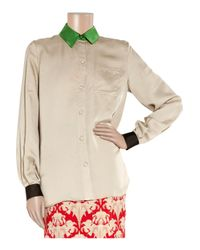 Jonathan Saunders | Natural Albany Silk Shirt | Lyst