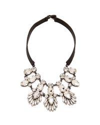 Noir Jewelry - Metallic Nightfall Leather Bib Necklace - Lyst