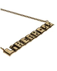 ASOS - Metallic Asos Like A Boss Necklace for Men - Lyst