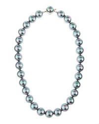Majorica | Gray Pearl Necklace | Lyst