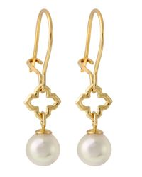 Majorica | Metallic Pearl Drop Earrings 6mm | Lyst