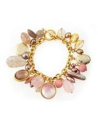 Stephen Dweck | Multicolor Mixed Stone Charm Bracelet | Lyst
