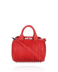 Alexander Wang - Red Rockie in Cayenne Pebble Lamb with Black Nickel - Lyst