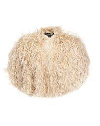 Jenny Packham | Natural Maribou Feather Shrug | Lyst