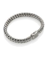 John Hardy - Metallic Diamond Clasp Classic Chain Bracelet - Lyst