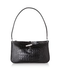 Longchamp | Black Roseau Shoulder Bag | Lyst