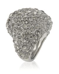 Marc By Marc Jacobs | Metallic Pave Heart Ring | Lyst