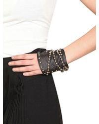 Nina Peter - Black Isabella Leather Fingerless Gloves - Lyst