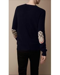 Burberry Brit | Blue Crew Neck Cashmere Sweater for Men | Lyst