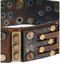 DIESEL | Brown Leather Bracelet for Men | Lyst