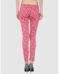 Love Moschino | Red Casual Pants | Lyst